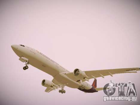 Airbus A330-300 Brussels Airlines для GTA San Andreas двигатель