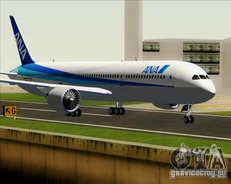 Boeing 787-9 All Nippon Airways для GTA San Andreas вид сзади слева