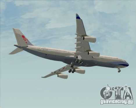 Airbus A340-313 China Airlines для GTA San Andreas вид изнутри