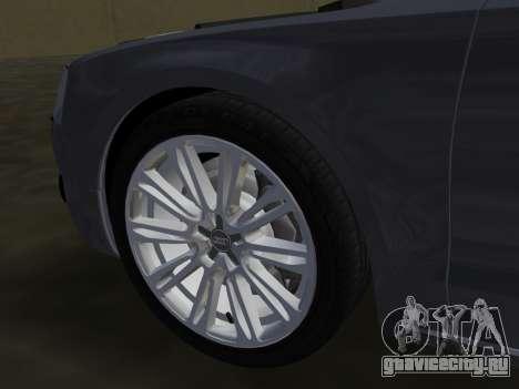 Audi A8 2010 W12 Rim1 для GTA Vice City салон