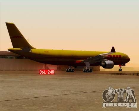 Airbus A330-300P2F DHL для GTA San Andreas вид снизу