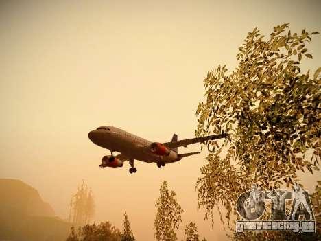 Airbus A319-132 Scandinavian Airlines для GTA San Andreas вид снизу