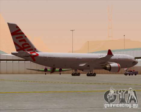 Airbus A330-200 Virgin Australia для GTA San Andreas колёса