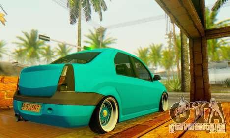 Dacia Logan Elegant для GTA San Andreas вид сзади слева