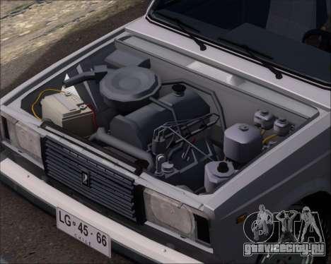 LADA 2107 для GTA San Andreas вид изнутри