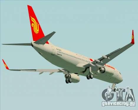 Boeing 737-89L Air China для GTA San Andreas вид изнутри