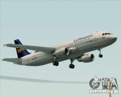 Airbus A320-211 Lufthansa для GTA San Andreas вид сзади