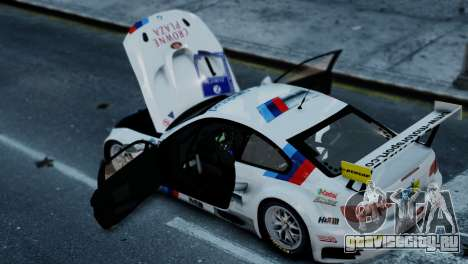 BMW M3 GT2 для GTA 4 вид сзади слева