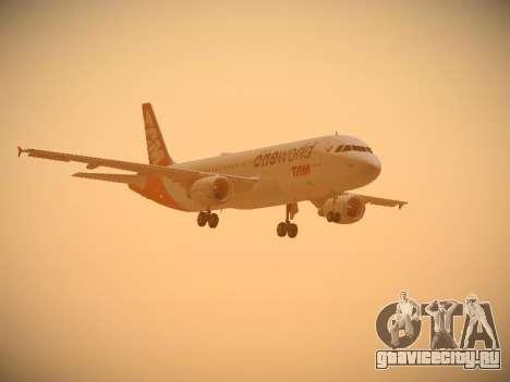 Airbus A320-214 TAM Oneworld для GTA San Andreas вид сбоку
