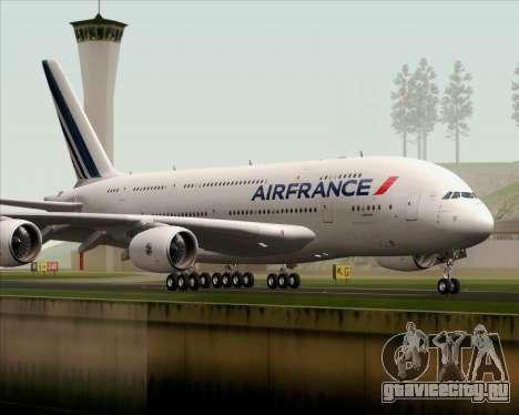 Airbus A380-861 Air France для GTA San Andreas вид справа
