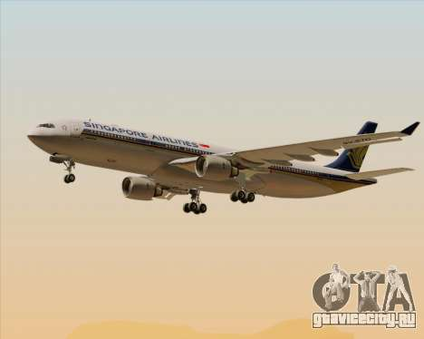 Airbus A330-300 Singapore Airlines для GTA San Andreas колёса