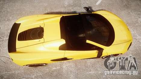 McLaren 650S Spider 2014 [EPM] Michelin v4 для GTA 4 вид справа