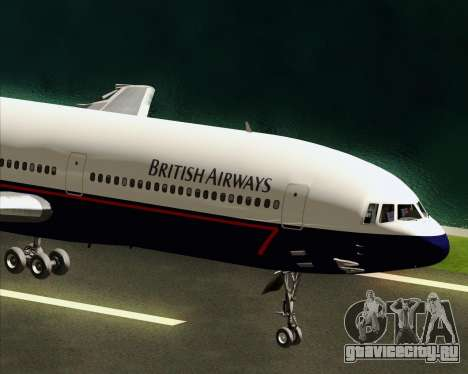 Lockheed L-1011 TriStar British Airways для GTA San Andreas вид изнутри