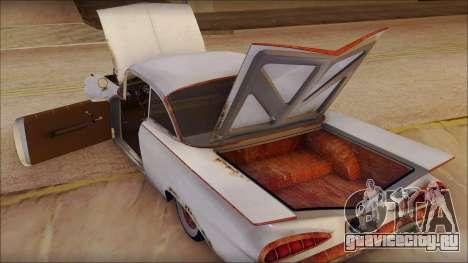 Сhevrolet Biscayne 1959 Ratlook для GTA San Andreas вид изнутри