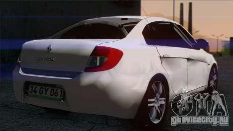 Renault Symbol 2009 для GTA San Andreas вид слева