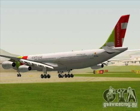 Airbus A340-312 TAP Portugal для GTA San Andreas вид сзади слева