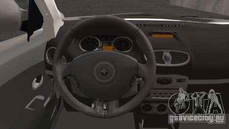 Renault Symbol 2009 для GTA San Andreas вид сзади слева