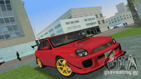 Subaru Impreza WRX 2002 Type 4 для GTA Vice City вид слева