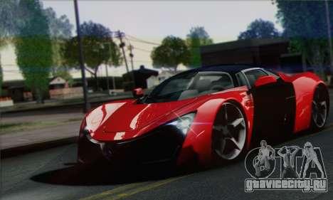 Marussia B2 для GTA San Andreas вид справа