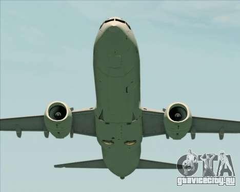 Boeing 737-89L Air China для GTA San Andreas вид снизу