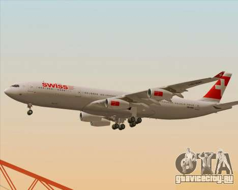 Airbus A340-313 Swiss International Airlines для GTA San Andreas салон