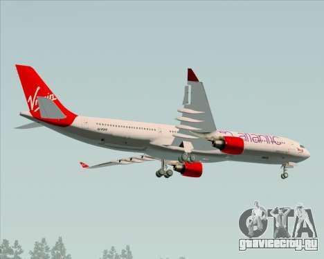 Airbus A330-300 Virgin Atlantic Airways для GTA San Andreas вид изнутри