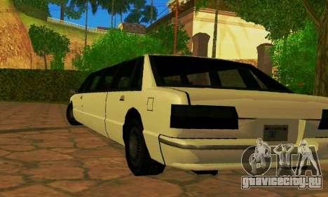 Premier Limousine для GTA San Andreas вид сзади слева