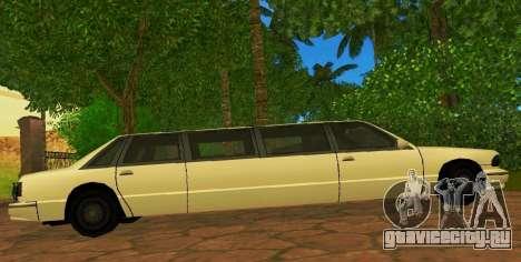Premier Limousine для GTA San Andreas вид слева