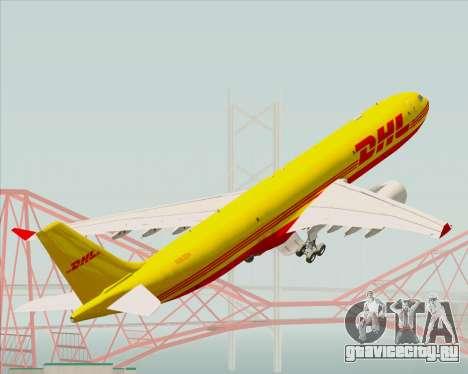 Airbus A330-300P2F DHL для GTA San Andreas колёса