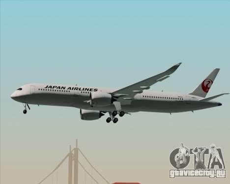 Airbus A350-941 Japan Airlines для GTA San Andreas колёса