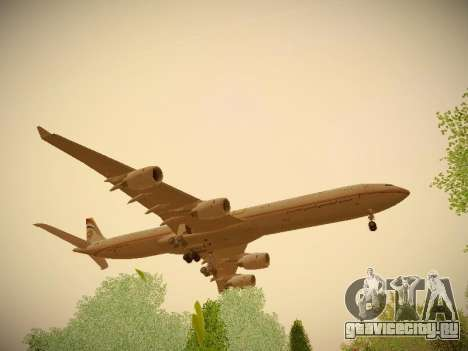 Airbus A340-600 Etihad Airways для GTA San Andreas вид сзади