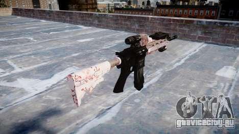 Автоматический карабин Colt M4A1 cherry blososm для GTA 4 второй скриншот