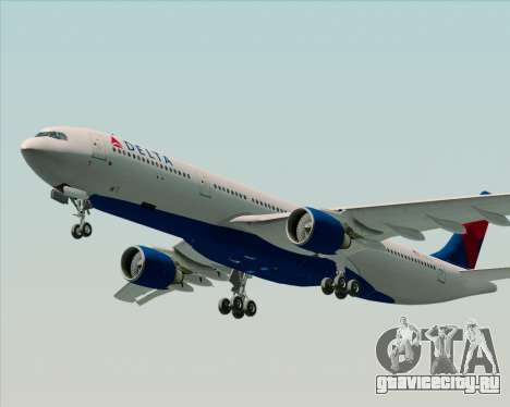 Airbus A330-300 Delta Airlines для GTA San Andreas вид сверху