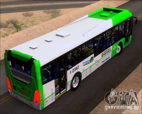 Caio Induscar Millennium BRT Viacao Gato Preto для GTA San Andreas вид сзади