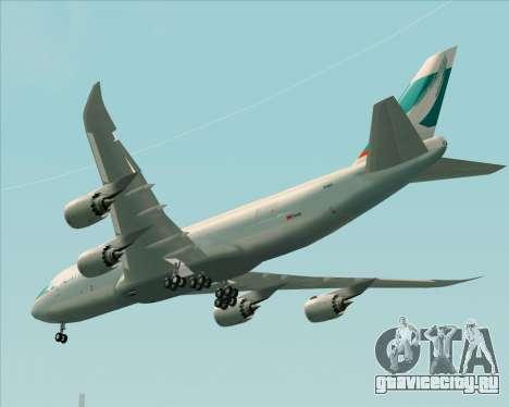 Boeing 747-8 Cargo Cathay Pacific Cargo для GTA San Andreas вид сзади
