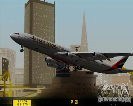 Airbus A340-313 Emirates для GTA San Andreas вид сверху