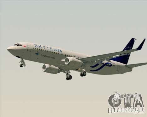Boeing 737-86N Garuda Indonesia для GTA San Andreas вид сбоку