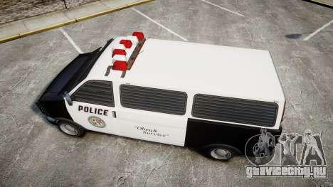 Declasse Burrito Police для GTA 4 вид справа