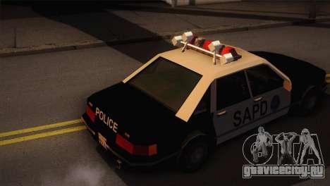 GTA 3 Police Car для GTA San Andreas вид сзади слева