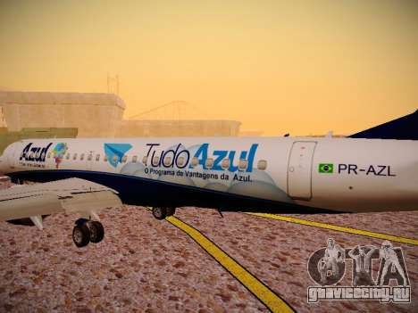Embraer E190 Azul Tudo Azul для GTA San Andreas салон