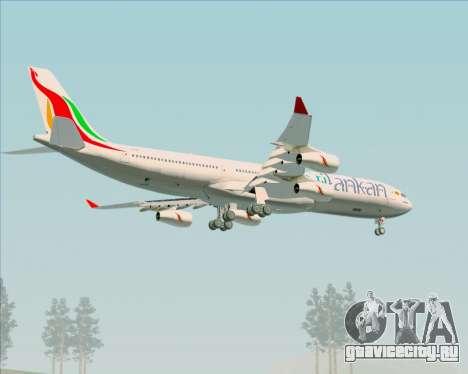 Airbus A340-313 SriLankan Airlines для GTA San Andreas колёса