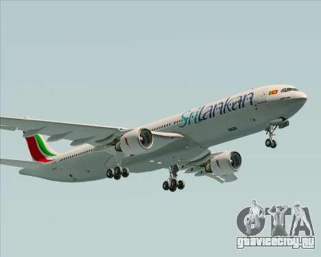 Airbus A330-300 SriLankan Airlines для GTA San Andreas вид изнутри