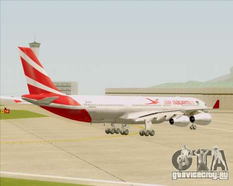 Airbus A340-312 Air Mauritius для GTA San Andreas вид справа