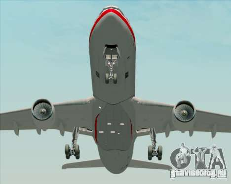 Airbus A330-300 LTU International для GTA San Andreas вид изнутри