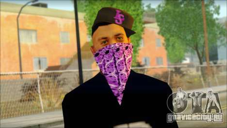 East Side Ballas Skin 2 для GTA San Andreas третий скриншот