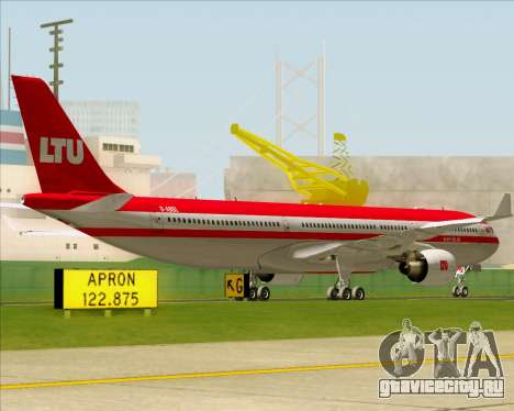 Airbus A330-300 LTU International для GTA San Andreas вид сзади