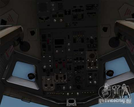Boeing 737-86N Garuda Indonesia для GTA San Andreas вид снизу