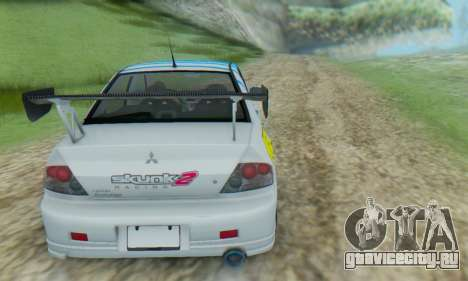 Mitsubishi Lancer Turkis Drift Aem для GTA San Andreas вид справа