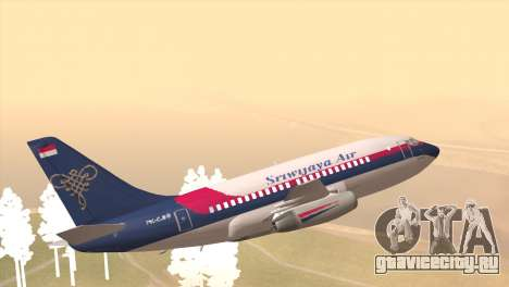 Indonesian Plane Sriwijaya Air для GTA San Andreas вид слева