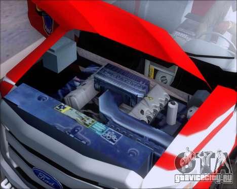 Ford F-350 Super Duty TFD Medic 1 для GTA San Andreas вид изнутри